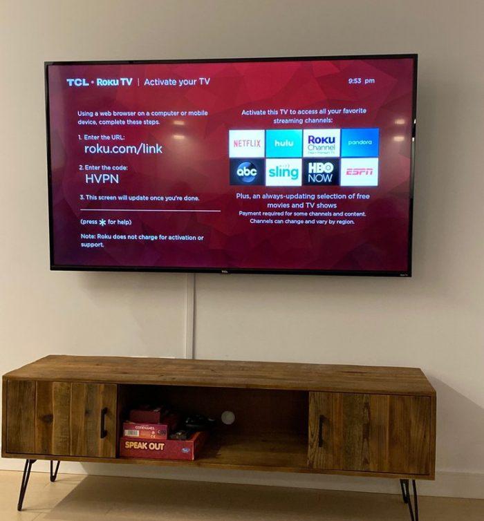 Full motion Bracket TV Installation